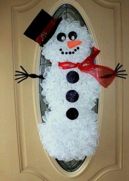 styrofoam cup snowman door instructions