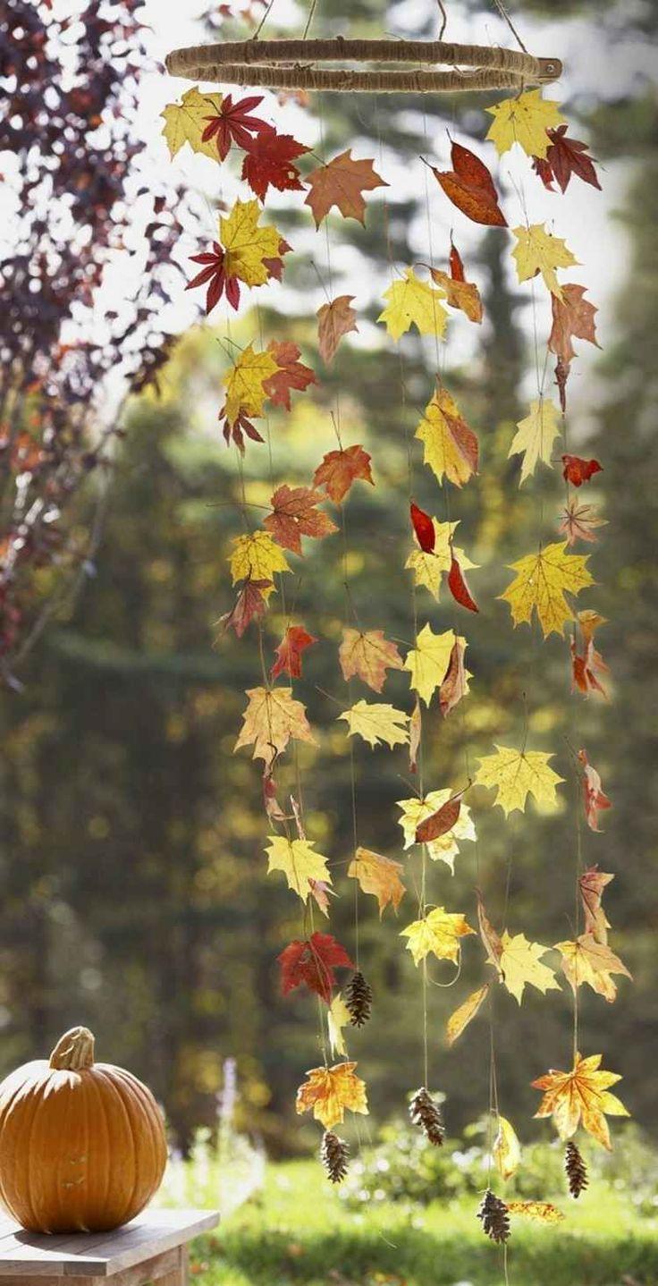 Idées créatives et faciles de bricolage d'automne avec des feuilles d'arbre