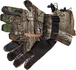 MANZELLA PRODUCTIONS INC Tracker Waterproof Glove Realtree Xtra Camo Medium, PR