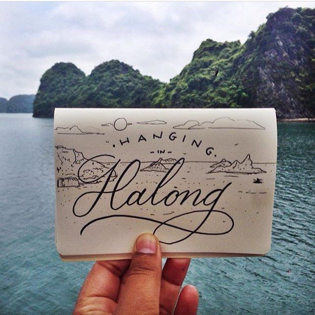 Hanging in Halong by @tinytyper #designspiration #design #lettering #creative - View this on http://ift.tt/1LVCgmr