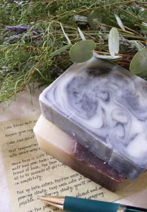 5 methods for homemade soap, recipes and instructions included; melt and pour, cold process, hot process, rebatching, and liquid soap; click on 'soap making' link