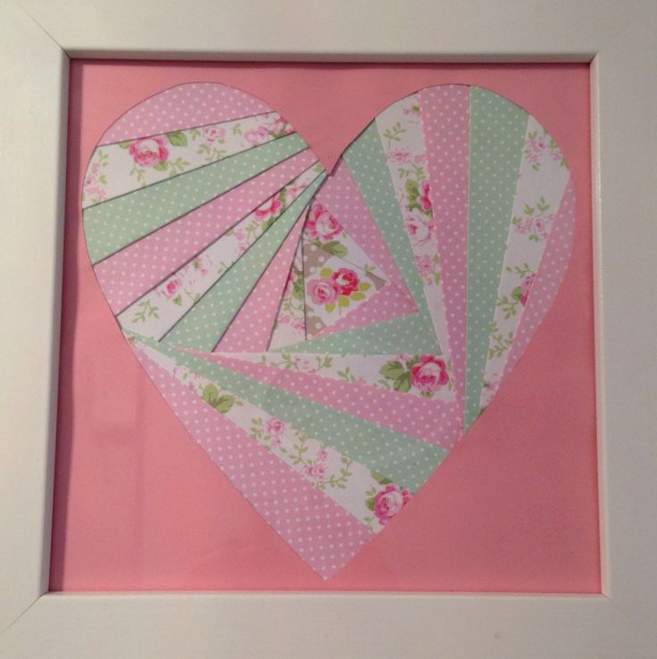 Iris folding picture for bathroom, made at craft club