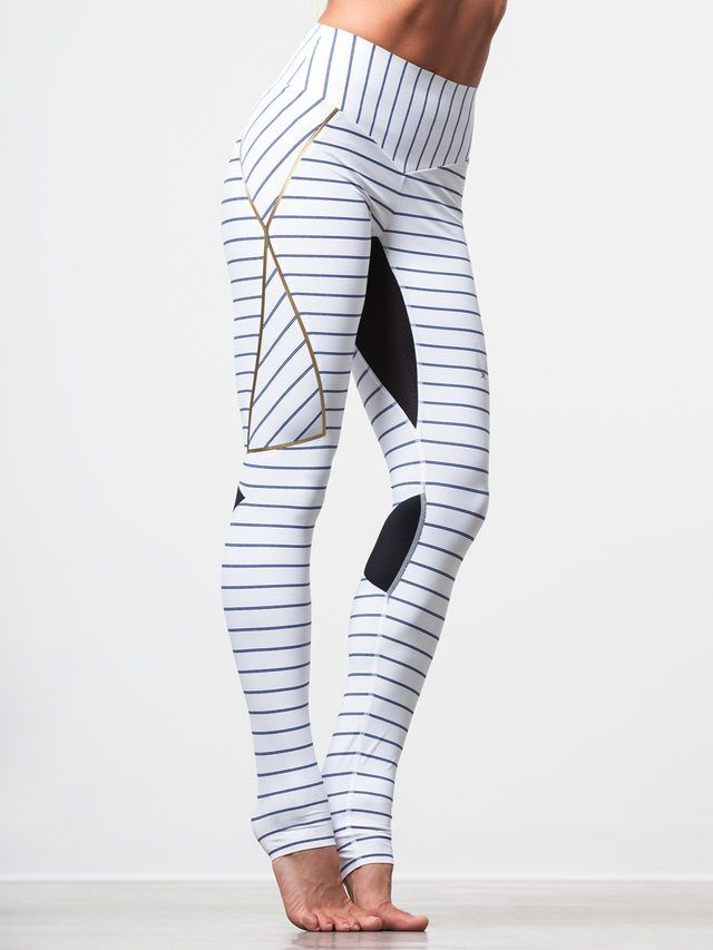 Nordica Legging in White Pinstripe by Lucas Hugh from Carbon38