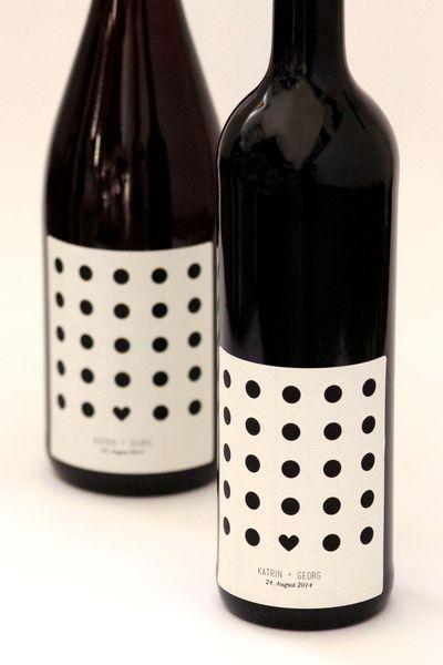 Herzenssache | 60 personalisierte Weinetiketten von Frau Z. und der schöne Wein…