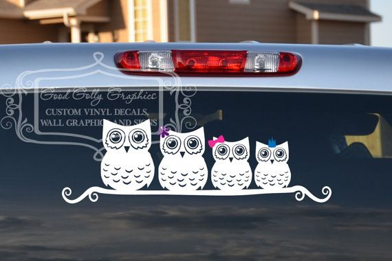 Hey, I found this really awesome Etsy listing at http://www.etsy.com/listing/95885636/stick-family-owl-family-vinyl-vehicle