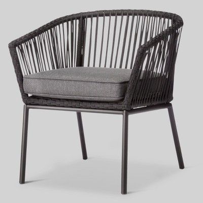 Standish 6pk Patio Dining Chair Project 62 Black In