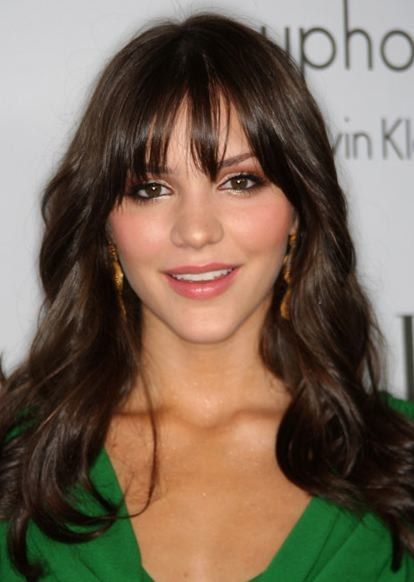 Cute bangs -piecey and can be worn straight or side swept