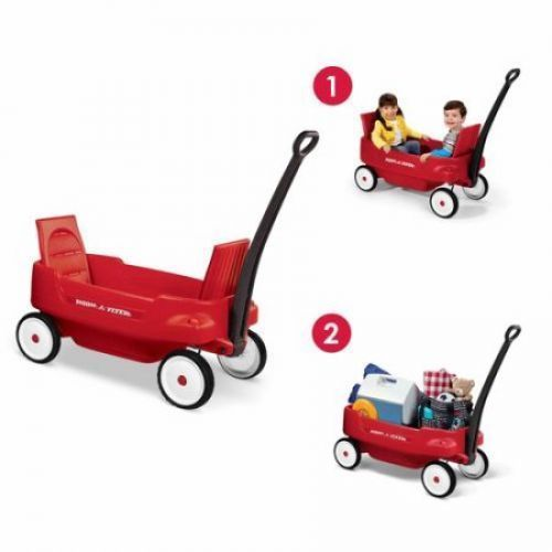 Kids Pull Wagon Red Plastic Children Outdoor Play Toy FunRide Boys Girls Gift  #KidsPullWagon