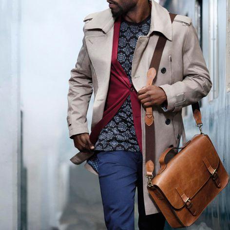 Gents genuine leather satchel