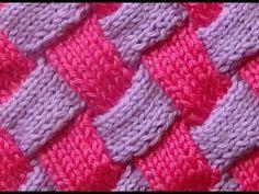 Cómo Tejer PUNTO ESPIGA en COLORES - Herringbone Stitch 2 agujas (324) - YouTube