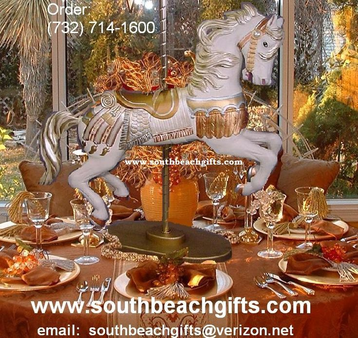33 Best Images About Carousel Horse Centerpieces Table