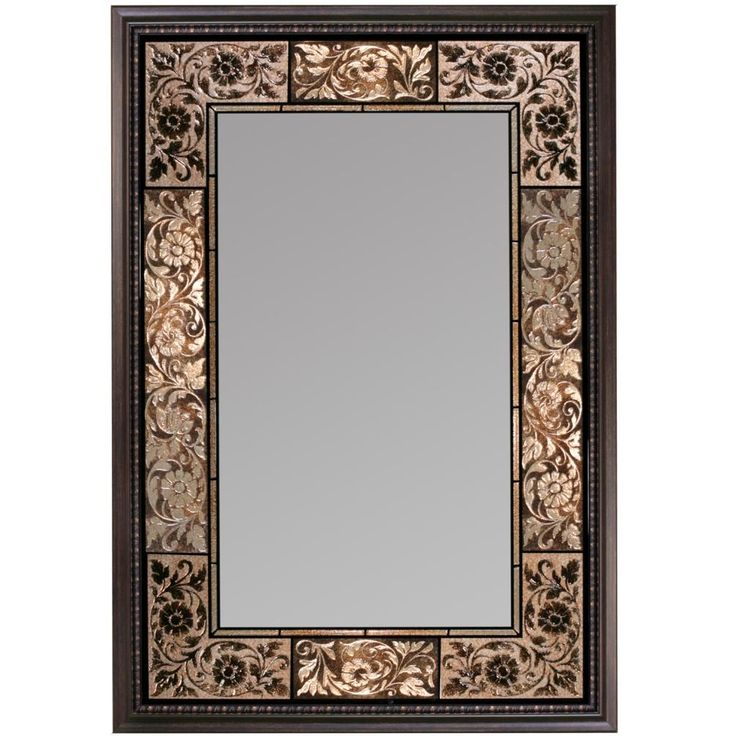 French Tile Wall Mirror (1095)