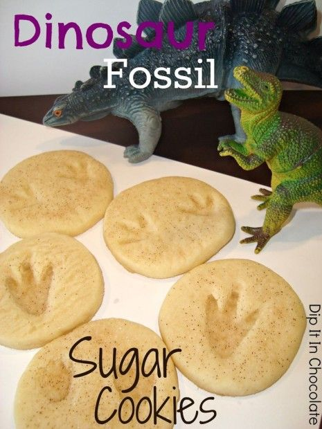 What a fun activity to do with the kids (or to have at a dinosaur party!) Lots of dino snack ideas!!