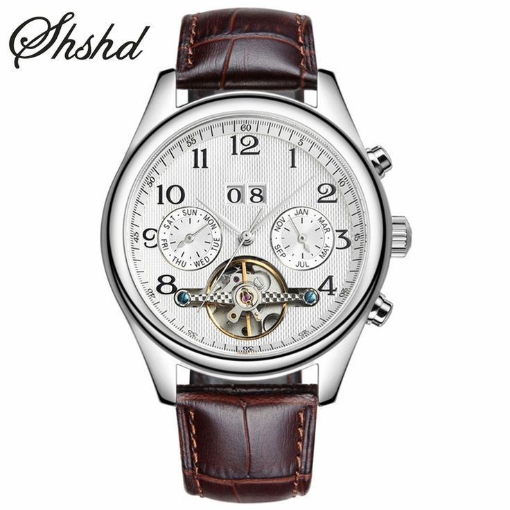 69.29$  Buy here - Automatic Self-Wind Mechanical Watches Luxury Brand Wristwatch Tourbillon Shock Resistant Mens Clock Leather Brand Reloj Hombre   #buychinaproducts
