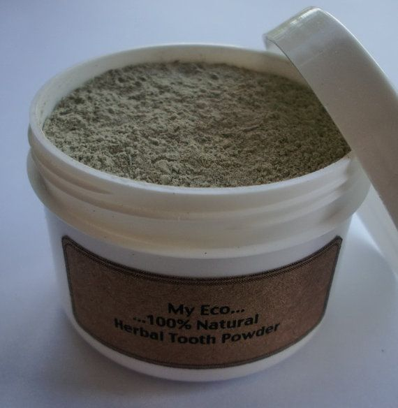 Herbal Tooth Powder $7: Etsy, Herbal Tooth, Tooth Powder