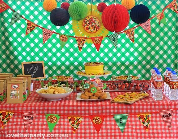 10 best Pizza Pizzeria Birthday Party Ideas images on Pinterest ...