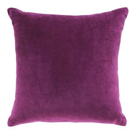 Vashti Velvet Cushion Plum