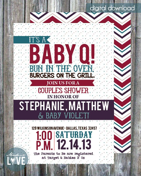 Couples Baby Shower Invitation  Digital by madewithlovebyalesha, $20.00