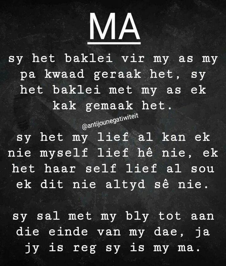 Ma... #Afrikaans #MamaMia #Moederliefde