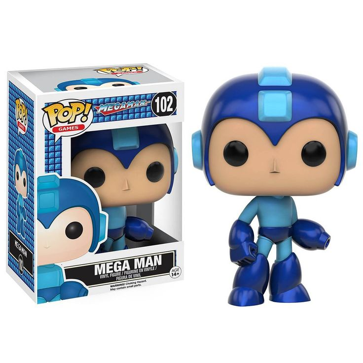 This is a Mega Man POP Vinyl Figure. It's produced by the nice folks over at Funko. Mega Man looks great in his Funko POP Vinyl form and he's perfect for any fan of Funko POP's or the legendary franch