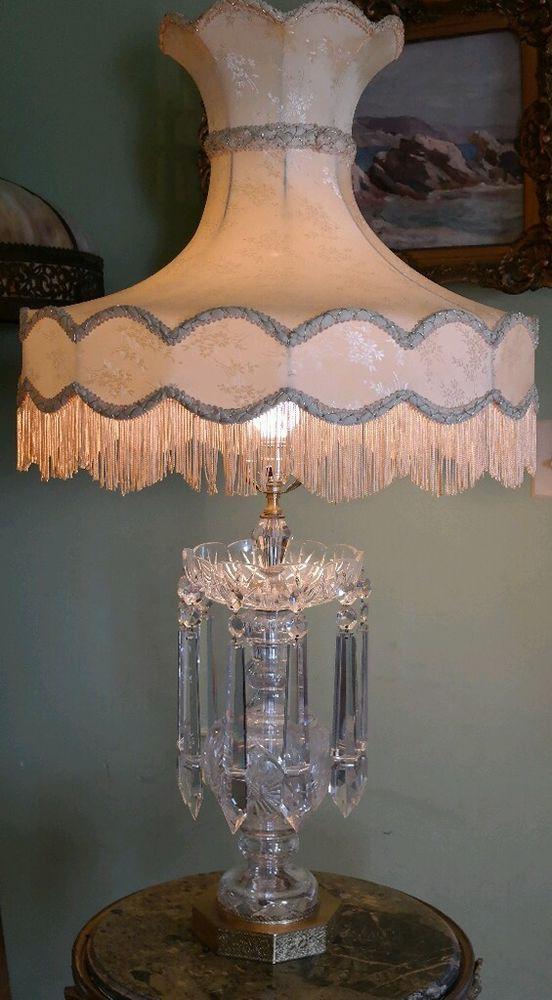 Stunning Vintage Antique Cut Glass Lamp 10 1 2 Quot Frog