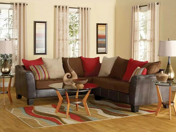 7 Piece Calypso Living Room Collection Includes Sofa Sectional Loveseat Cocktail Table End Tables Lamps Rug