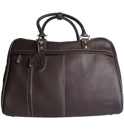 Men's/Women's Cortez Dark Brown Leather Holdall/Travel Bag