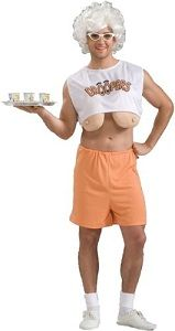 Hooters waitress costume: Bosom Funny, Waitress Costumes, Halloween Costumes Ideas, Adult Costumes, Funny Halloween Costumes, Droopy Bosom, Halloween Ideas, Funny Costumes, Halloweencostum