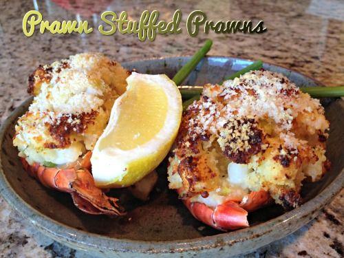 Stuffed Tiger Prawns Recipe #recipe #shellfish #prawns