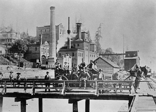 The Rainier Brewery in South Seattle, sometime in the 1890s.