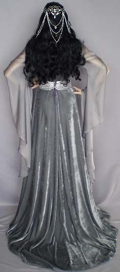 ~ grey & silver elven gown ~