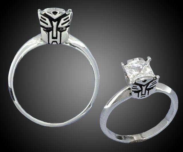 Transformers Engagement Rings | UHHHHHHHHHHHHMMMMMMM UHHHHH UHHHHHHH YES I SUPPOSE I MEAN UH SURE I MEAN YEAH TOTALLy.