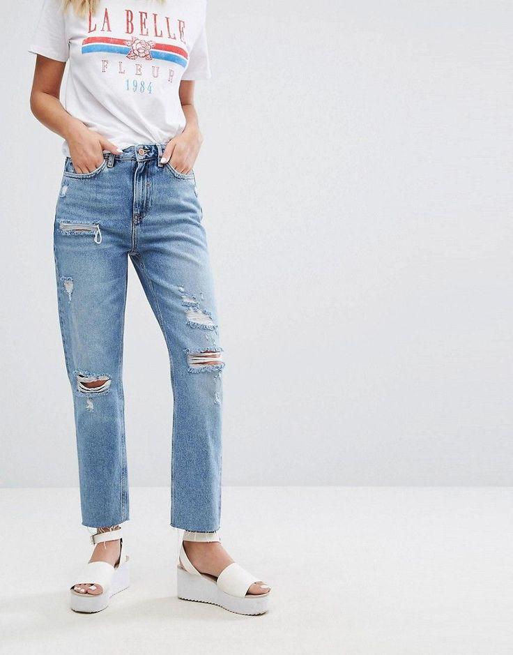 Zoe high waisted vintage slim leg mom jeans