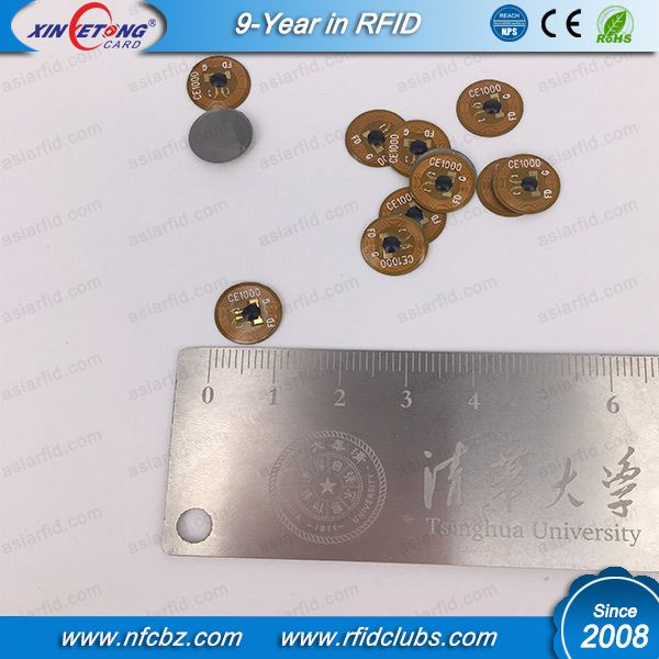 10MM NTAG213 NFC Anti-metal PCB Smallest Tag-RFID Card manufacturer,NFC sticker Tag, NFC TAG Type, RFID Hotel Key card ,RFID Smart Cards,RFID Bracelet,NFC Epoxy Hang Tag ,Calssic 1K S50,NFC card ,NTAG213 NFC Supplier In China.
