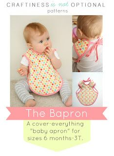 the bapron: a pattern   I've got to make one of these!!! So tired of the boring bibs from wal-mart and target!