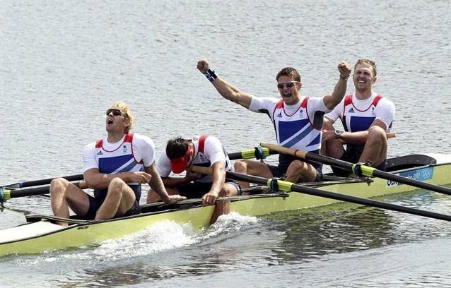 Team GB took gold in the Men's Four