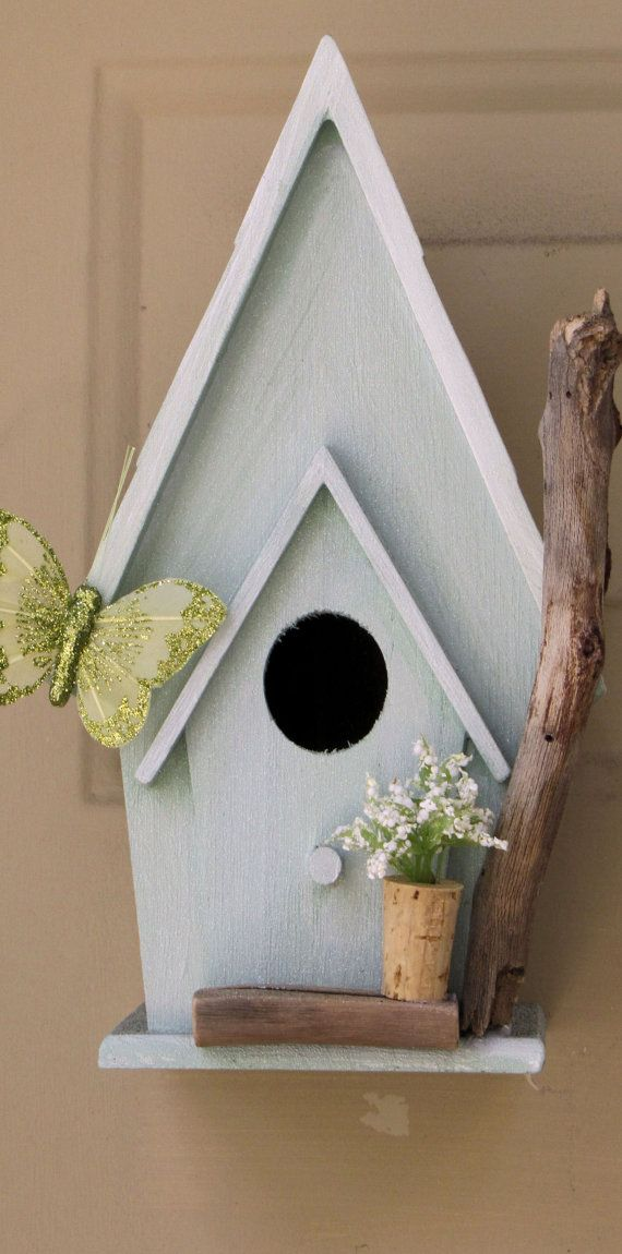Simple Birdhouse by Oscars16Hands on Etsy, $35.00