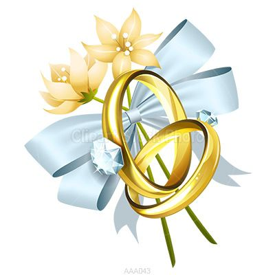 wedding pictures clip art   Gold Wedding Rings Clip Art