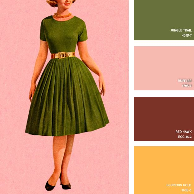 1950s | 16 Beautiful Color Palettes Inspired By Retro Fashion