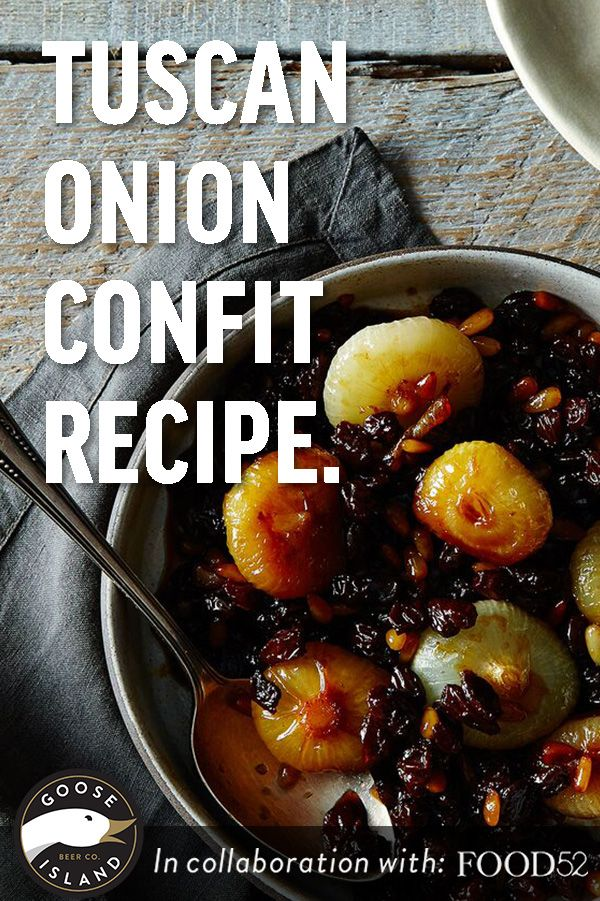 Sweet and sour, this Tuscan onion confit recipe is everything that's ...