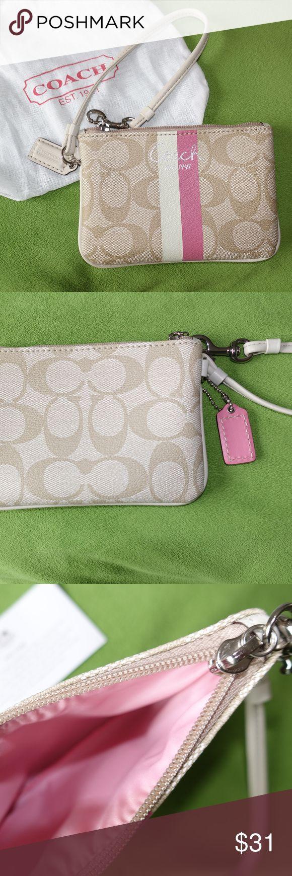 Coach Wristlet Coach Wristlet PVC.  Sweet colors.  Excellent condition. Coach Bags Clutches & Wristlets