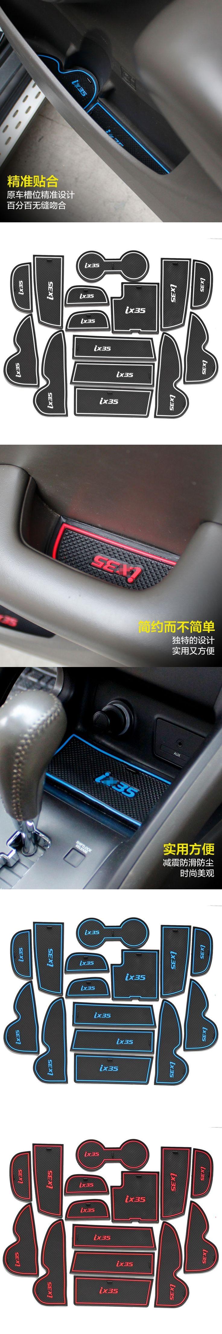 For Hyundai IX35 2009-12 2013-16 Anti Slip Rubber Mats Auto Motive Interior Car Parts Door Pad Carpets Gate Slot Car Styling