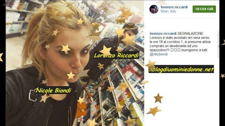 #Lorenzo #Ricciardi e #Nicole #Biondi insieme a Milano #uominiedonne