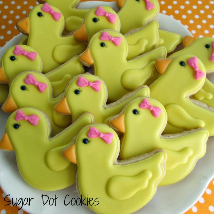 Sugar Dot Cookies: Rubber Duck Cookies
