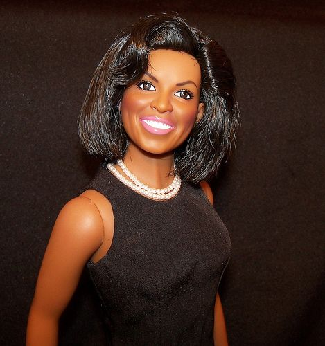 The Michelle Obama Official White House Portrait Doll by The Franklin Mint, part of my personal collection.
