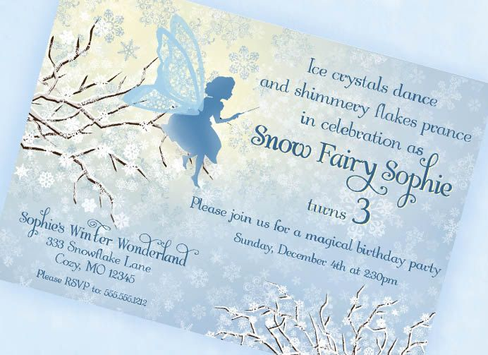 80 best snow fairy party images on pinterest | christmas ideas, Party invitations