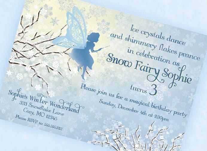 winter wonderland invitation template