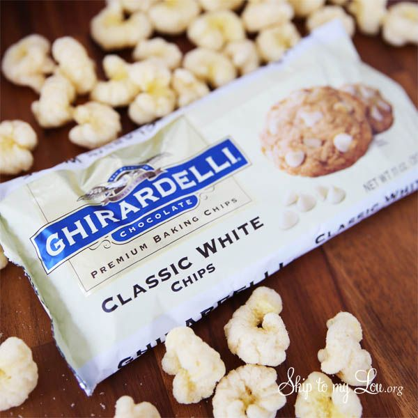 White chocolate popcorn recipe that melts in your mouth. This smooth creamy popcorn is made with only two ingredients!