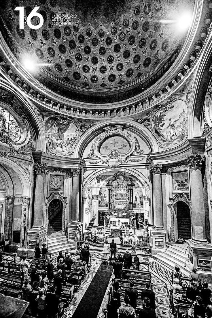 Wedding Glamour in Turin: La cerimonia in chiesa.