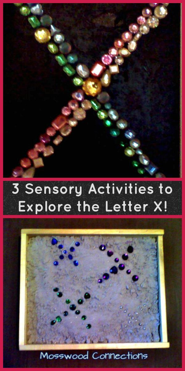 3 Sensory Activities to Explore the Letter X!